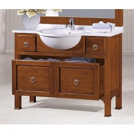Mobile bagno arredo legno massello arte povera classico - Mobili in legno massello per bagno ...