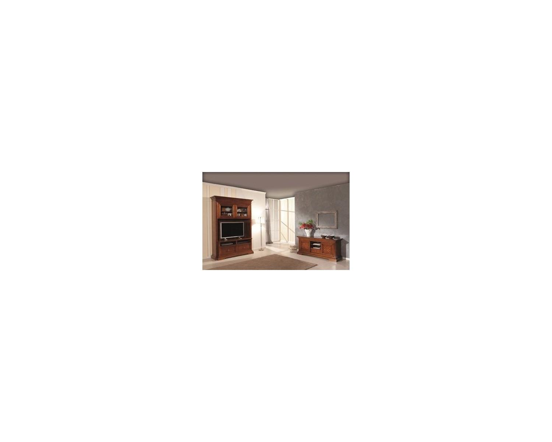 Mobile parete porta tv intarsiatalegno massello x sala salotto for Mobile parete sala