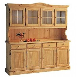 Glaube in pine holz base lift cristalliera honey color for Mobili trentino