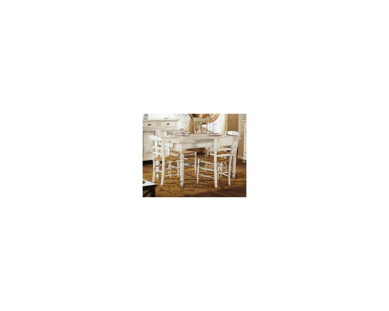 Tavolo legno rettangolare allungabile laccato bianco anticato for Legno laccato