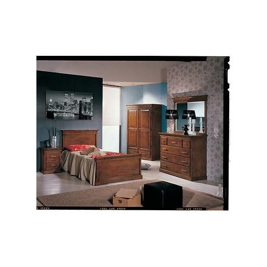 Camera da letto completa legno massello letto como for Como x camera da letto