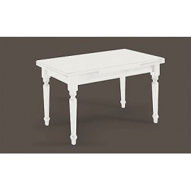 WOODEN TABLE 120x80 200LACCATO WHITE ALL DIFFERENT SIZES solid wood