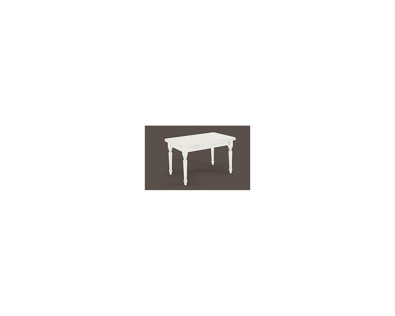 Tavolo Legno 120x80 All 200laccato Bianco Legno Massello