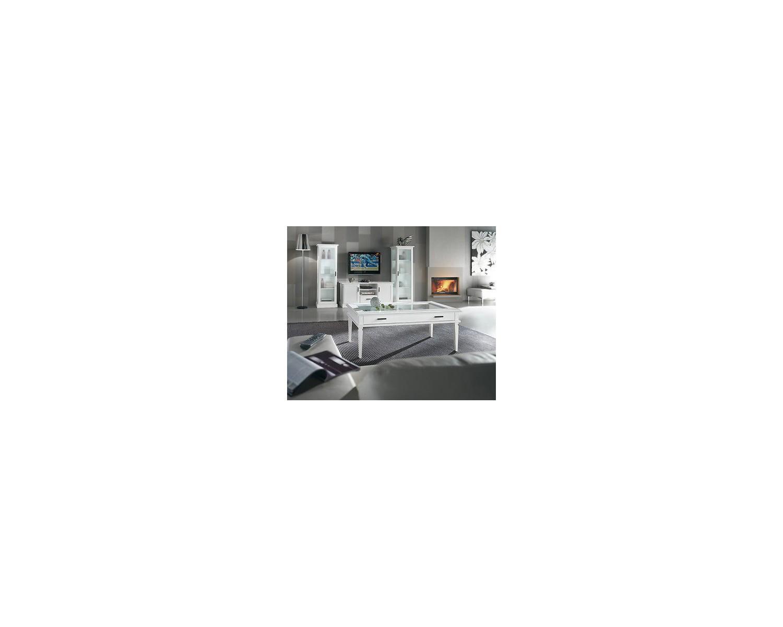 Porta tv mobile legno moderno laccato bianco legno for Mobile sala bianco