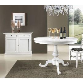 tavolo rotondo legno laccato bianco x sala salotto cucina vari colori e dimens