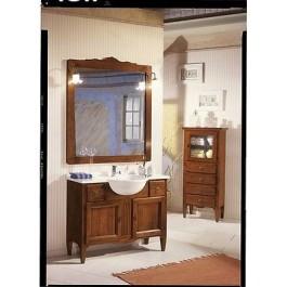 Mobile bagno arredo legno massello arte povera con specchiera for Arredo bagno arte povera prezzi