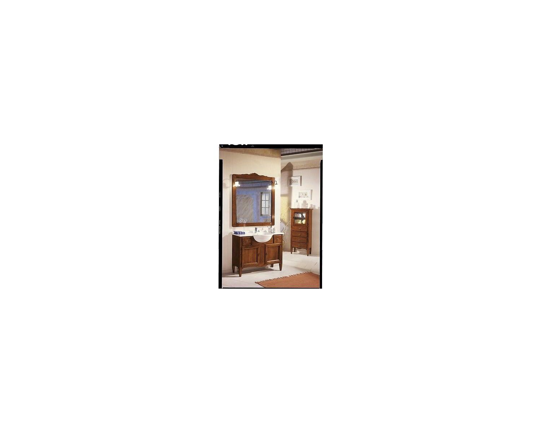 Mobile bagno arredo legno massello arte povera con specchiera - Specchiera bagno legno ...