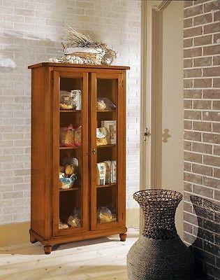 Mobile vetrina dispensa legno massello   estea mobili