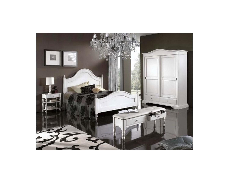 Camera da letto matrimoniale legno laccato vari coloricountry letto comodini armadio - Camera da letto legno ...