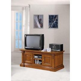cassapanca porta tv colore noce chiaro o scuro - estea mobili - Mobili Tv Arte Povera