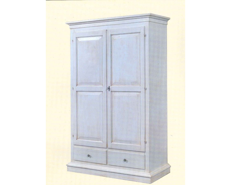 Armadio legno bianco anticato invecchiato stile country estea mobili - Mobili legno bianco anticato ...
