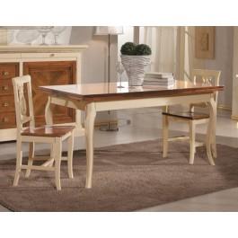 Tavolo legno quadrato bicolore 100x100 allungabile 4 sedie for Tavolo rotondo legno chiaro