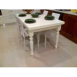 Tavolo legno colore bianco opaco allungabile for Tavolo 140x80 allungabile legno