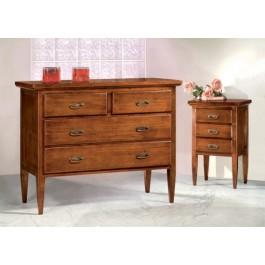 como cassettiera e 2 comodini legno massello vari colori - Estea ...
