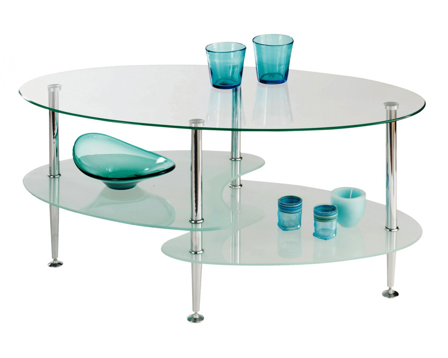 Couchtisch aus glas lounge piano tempered crystal clear for Couchtisch aus glas