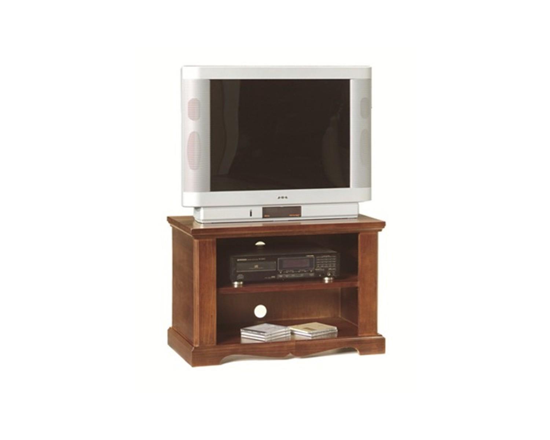Porta tv legno arte povera colore noce scuro for Colore noce scuro