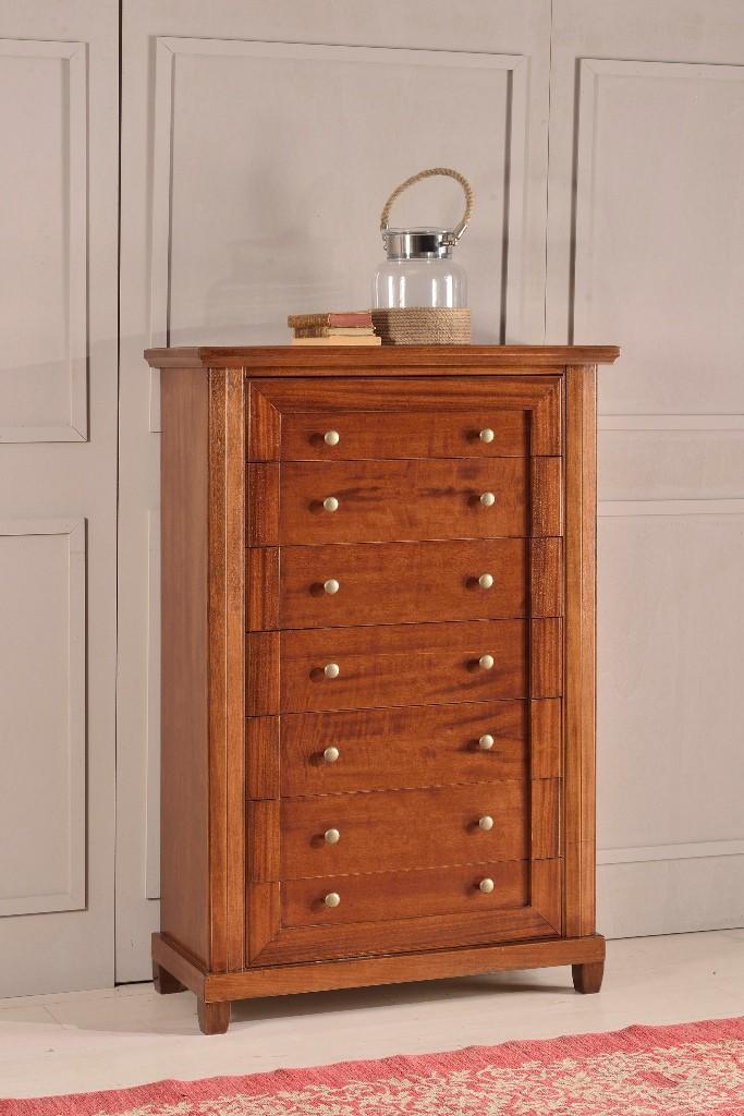 cassettiera in legno colore noce scuro - l 86 p 40 h 131 - estea ... - Cassettiera Legno Scuro