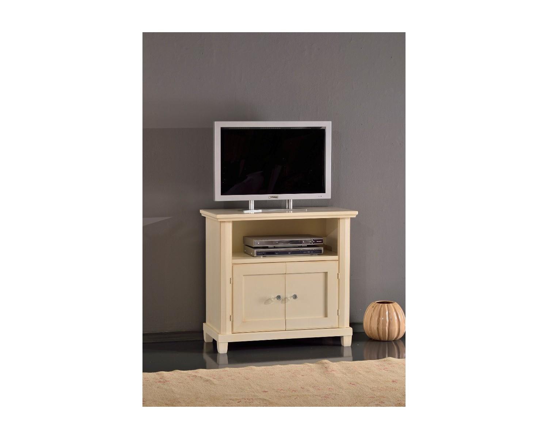 Porta tv in legno colore avorio patinato - Porta tv in legno ...