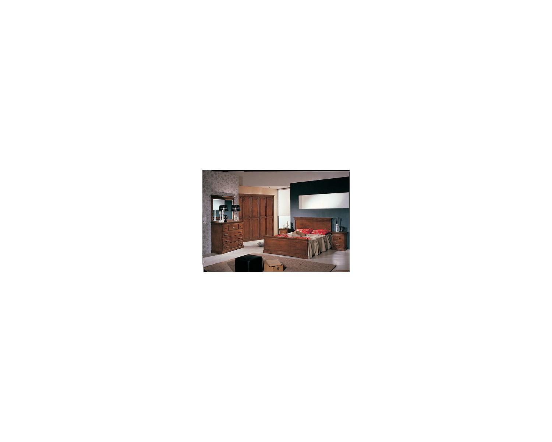Camera da letto completa legno massello letto como - Como camera da letto ...