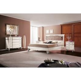 Camera da letto matrimoniale legno massello letto como 39 comodino armadio - Armadio letto matrimoniale ...