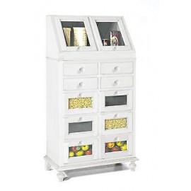Mobile legno credenza bianco opaco legno cassettiera veneta dispensa x cucina - Mobile cucina dispensa ...