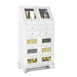 Mobile legno credenza bianco opaco legno cassettiera - Cassettiere per cucina ...