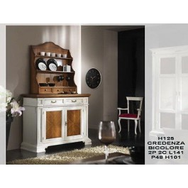 Mobile credenza base legno massello col bianco anticato for Mobile sala bianco