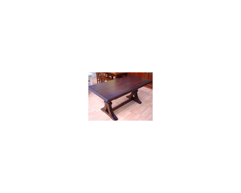tavolo legno rettangolare allungabile massello noce arte povera l ... - Tavoli Allungabili In Legno Massello Arte Povera