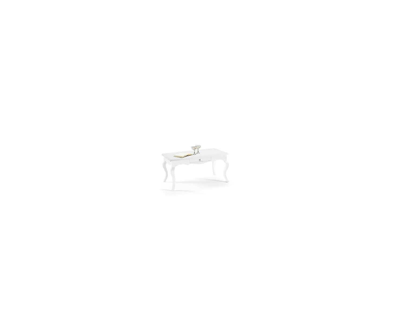 tavolo bianco opaco piano in legno 100 x 50 x h 45