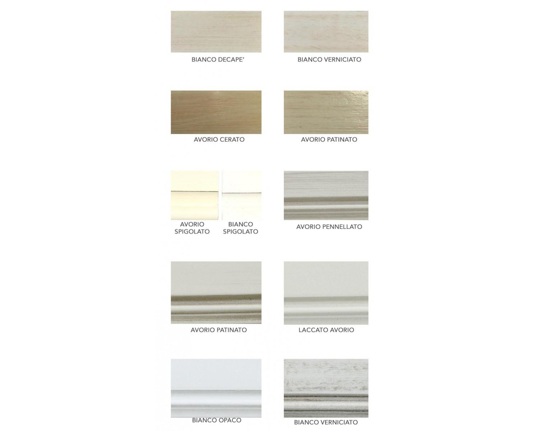Sala completa arte povera legno massello laccata bianco estea mobili - Mobili legno bianco anticato ...