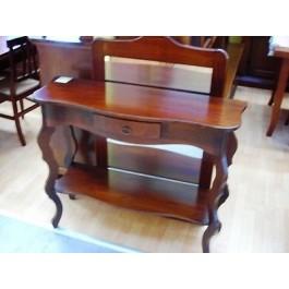 Tavolo legno consolle e specchio ingresso arte povera col for Tavolo consolle noce