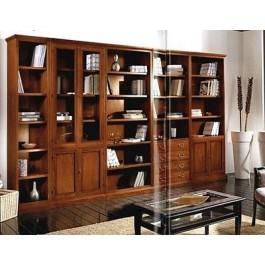 libreria lineare modulare legno massello