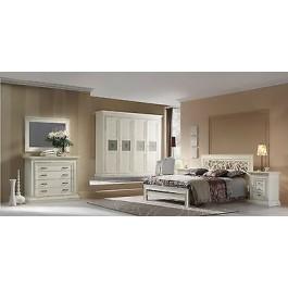 Camera matrimoniale laccato armadio como letto specchio comodini legno massello - Specchio camera letto ...