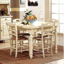 Tavolo legno 90 x 90 allungabile anticato bianco avorio vari colori estea mobili - Mobili legno bianco anticato ...