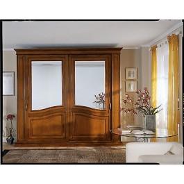 Armadio camera ante scorrevoli con specchio legno masselloartigianale - Armadio ante scorrevoli specchio ...