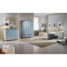 Camera da letto bambino legno massello laccata azzurro verde rosa - Camera da letto bambino ...