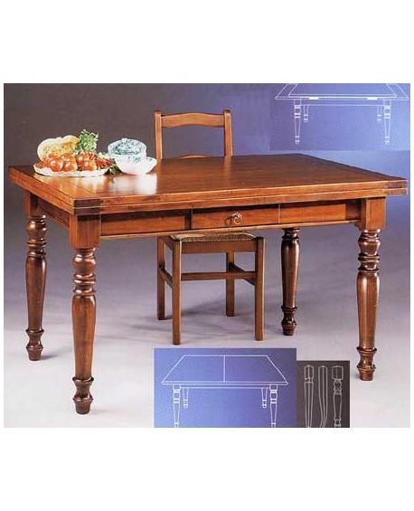 Tavolo legno massello allungabile vari colori - Tavolo legno massello allungabile ...
