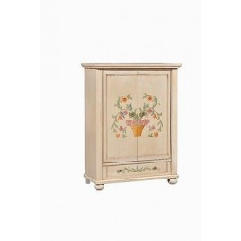 CREDENZA DISPENSA DECORATO A MANO DIPINTO ANTICATO COUNTRY COLLECTION