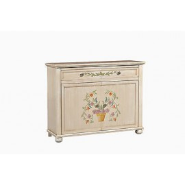 CREDENZA LEGNO DECORATO A MANO DIPINTO ANTICATO COUNTRY COLLECTION