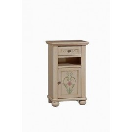 BEDSIDE DRAWER WOOD DECORATED BY HAND PAINTED ANTIQUE COUNTRY COLLECTION