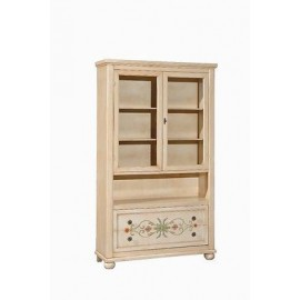 SHOWCASE LIBRARY DECORATED WOODEN HAND PAINTED ANTIQUE COUNTRY COLLECTION
