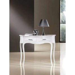 Consolle 2 cassetti laccata bianco tavolino legno ingresso for Consolle bagno ikea