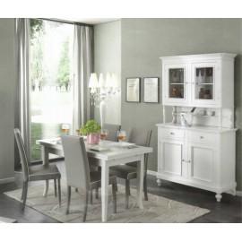 SALA COMPLETA COME FOTO LEGNO MASSELLO - promozione colore bianco opaco