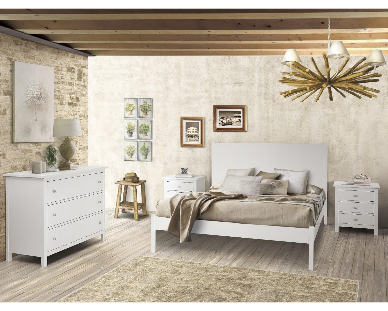 Letto in legno colore bianco opaco - Letto legno bianco ...