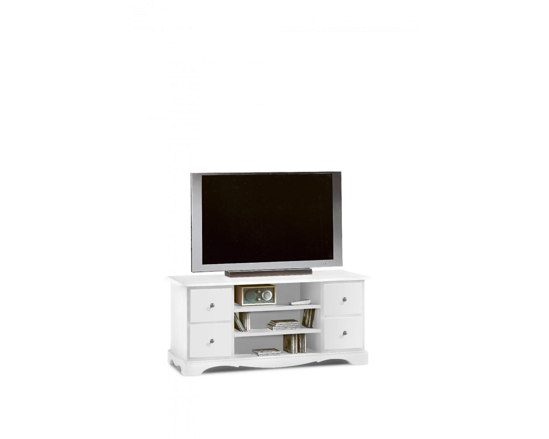 Porta tv in legno colore bianco opaco - Porta tv bianco ...