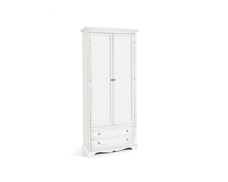 Armadio 2 Ante Legno : Armadio ante in legno colore bianco opaco