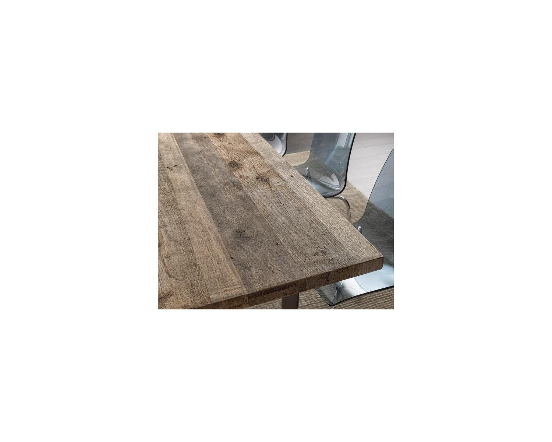 Tavolo design in legno massello rovere - Tavolo in legno design ...