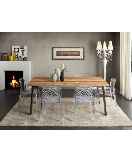 Tavolo design in legno massello conifera vecchia for Tavolo legno massello prezzi