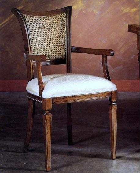 Sedia poltrona imbottita con paglia di vienna for Sedia design paglia di vienna