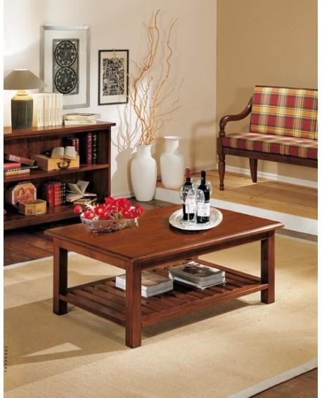 Tavolino salotto rettangolare legno massello for Wohnzimmertisch noce